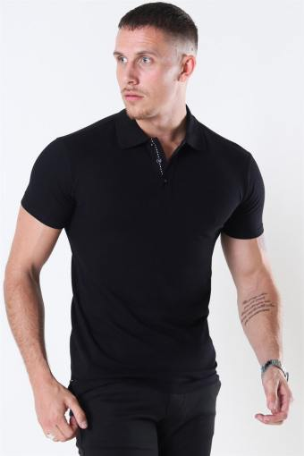 Muscle Fit Stretch Polo Black