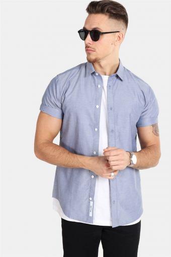 ravis SS Solid Skjorta Majolica Blue