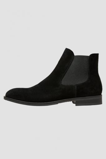 Louis Suede Chelsea Boot Black