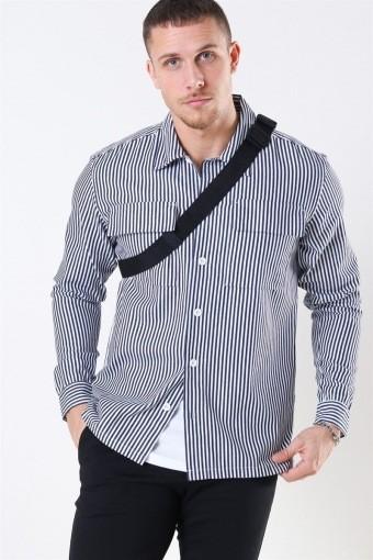 Prizon Stripe Skjorta Navy-White