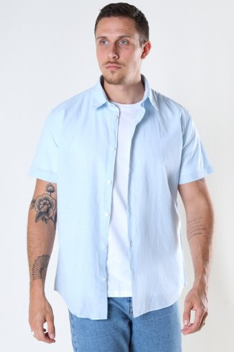 SLHREGNEW-LINEN SHIRT SS CLASSIC W Skyway