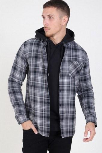 Arvid LS Check Skjorta Black