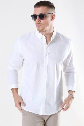 Cotton Linen Skjorta White