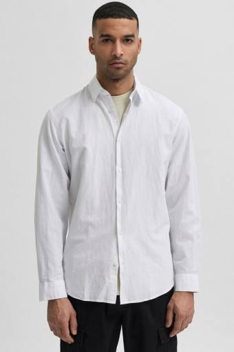 SLHSLIMNEW-LINEN SHIRT LS W NOOS White