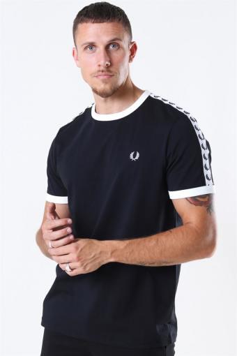 Taped Ringaer T-Shirt Black