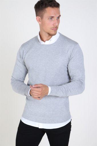 Tailored & Originals Mont Sticka Light Grey Melange