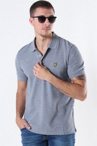 Plain Polo Mid Grey Marl