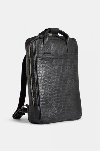 Dundee Backpack Black Croco