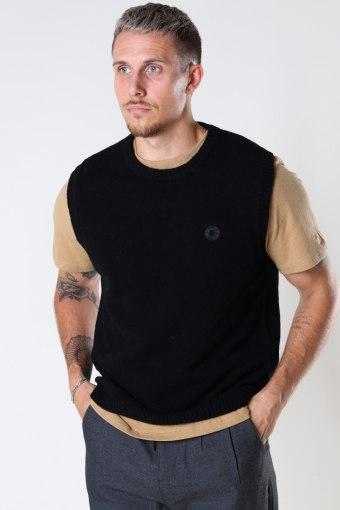 Karl Wool Vest Black