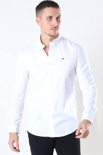 Tommy Jeans Slim Stretch Oxford Skjorta White
