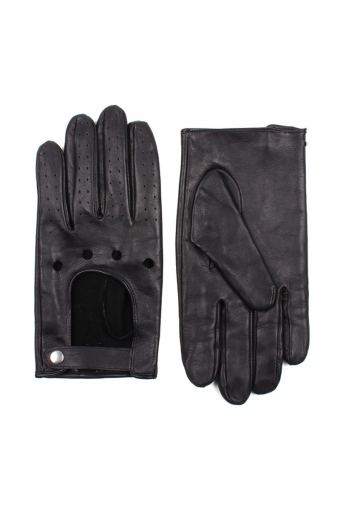 Men Driving Handskar Black