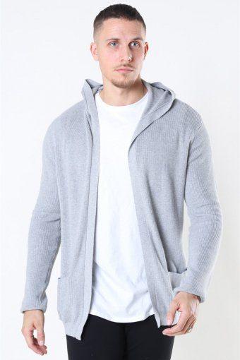 Sticka Cardigan Light Grey Melange