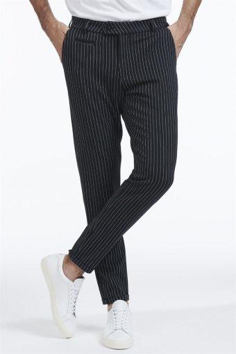 Como Pinstripe Suit Pants Black/ White