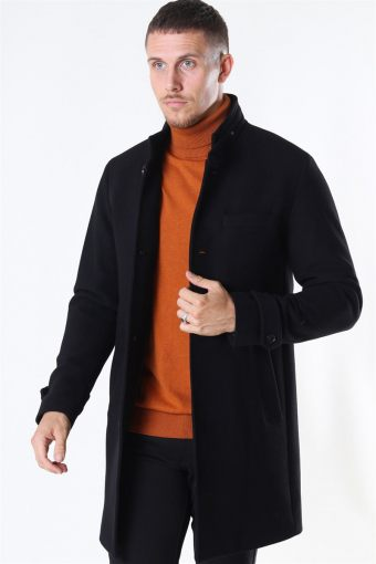 Jack & Jones Melton Uldfrakke Black