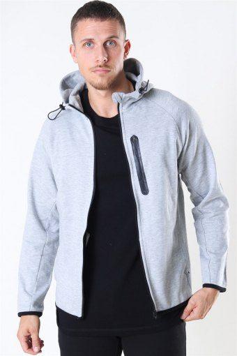 Sport Sweat Zip Hoodie Light Grey Melange