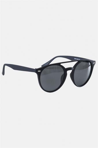 Fashion 1388 Mat Black Solgasögon Grey Linse