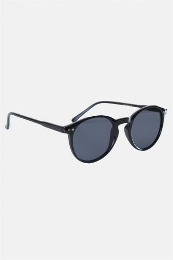 Fashion 1381 Panto Black Solgasögon Grey Lens
