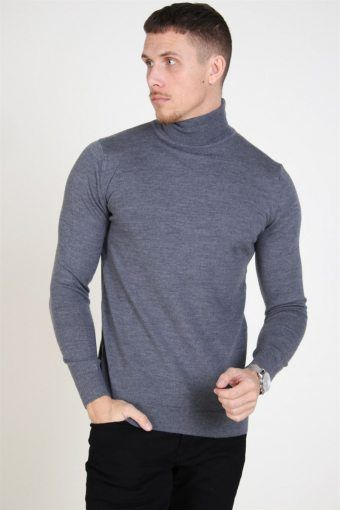 Johannes Merino Turtleneck Strik Anthracite