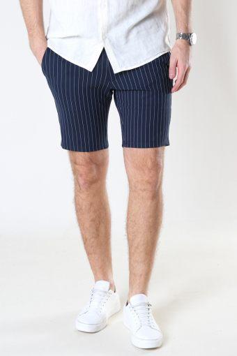 Ponte Shorts 134 Dark navy white pin