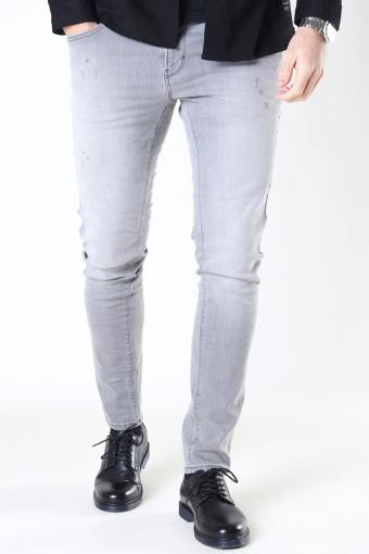Clean Cut David Slim Stretch Jeans Light Grey Denim