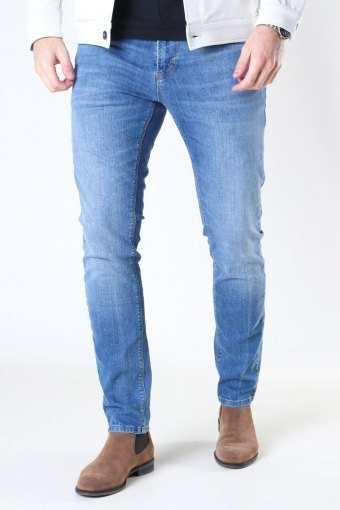 David Slim Stretch Jeans Mid Blue Denim