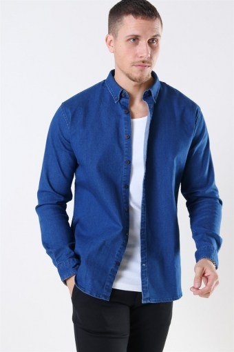 Johan Denim Skjorta Dark Blue