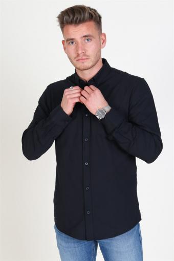 Alvaro LS Oxford Skjorta Black