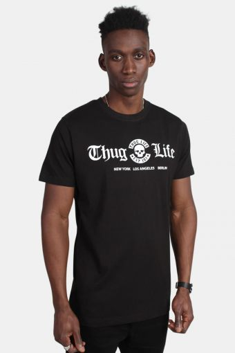 MT384 Thug Life Cities Tee Black