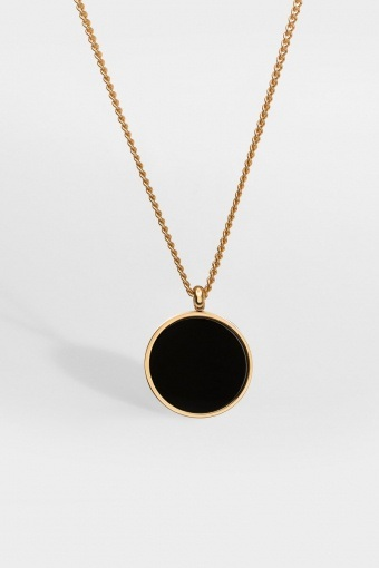 Black Onyx Halsband Gold