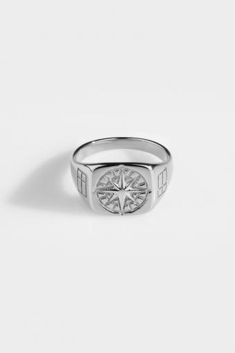 Compass Signature Ringa Silver