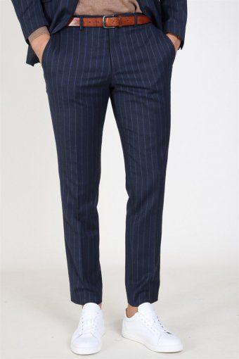 Slim Aden Stripe Byxor Grey/Blue