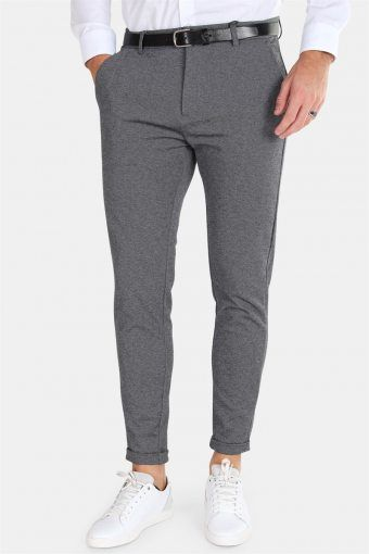 Prato Jersey Pants Dark Grey Mix