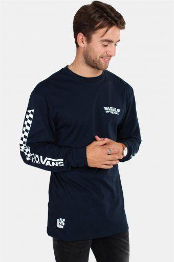 Crossed Sticks LS T-shirt Navy
