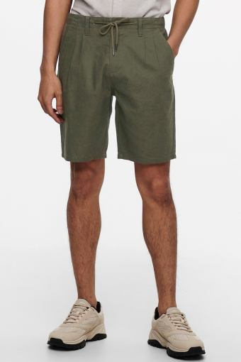 ONSLEO SHORTS LINEN MIX GW 9201 NOOS Olive Night