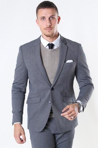 Clean Cut Milano Jersey Kavaj Dark Grey Melange