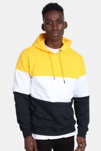 Klockaban Classics TB1870 3-Tone Hoodie Chrome Yellow/White/Navy