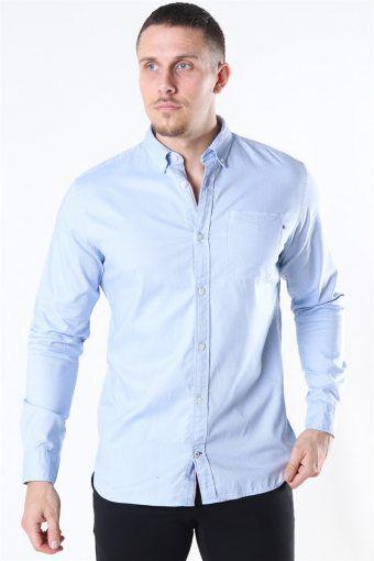 Classic Soft Oxford Skjorta LS Cashmere Blue