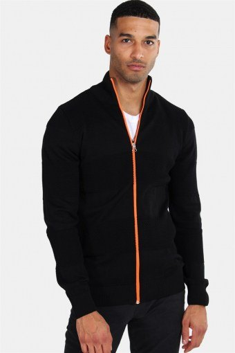 Jacob Zip Sticka Black/Orange