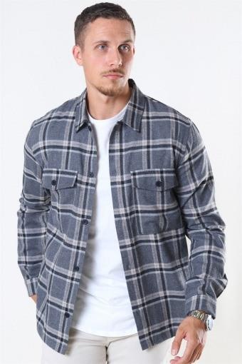 Minex Skjorta Grey Mellange