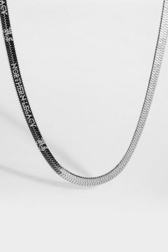 Herringbone Halsband Silver