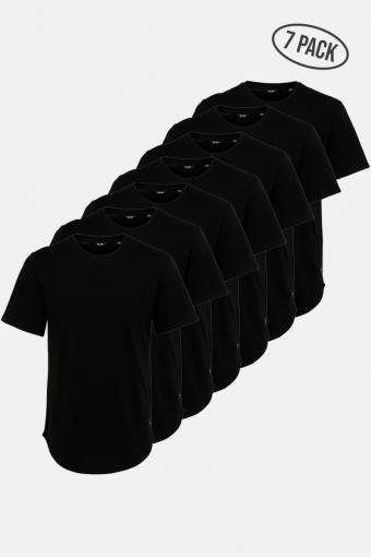 ONSMATT LIFE LONGY SS TEE 7-PACK Black
