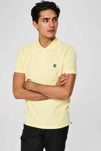 Aro S/S Embroidery Polo Skjorta W Noos Mellow Yellow