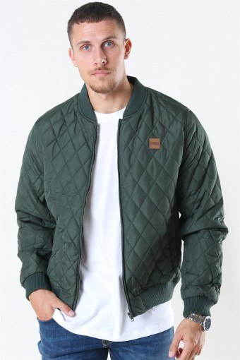 Klockaban Classics Diamond Quilt Nylon Jacket Olive