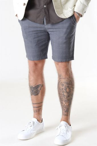 Hector Orleans Check Shorts Anthracite