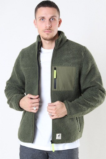 Hugh Fleece Jacka Beetle Green