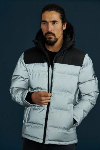 Birk Block Jacket Silver/Black