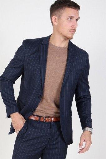 Slim Aden Stripe Kavaj Grey/Blue