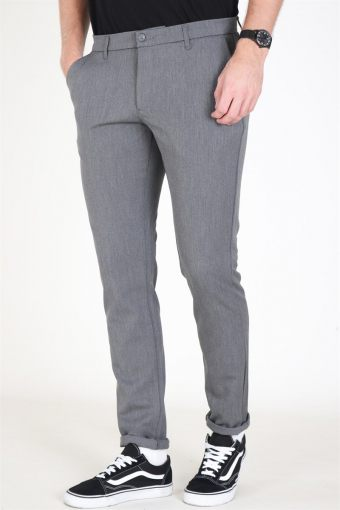 Steffen Twill Pants Light Grey