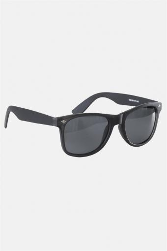 Fashion 1398 Wayfarer Solgasögon Black Rubber Grey Lens