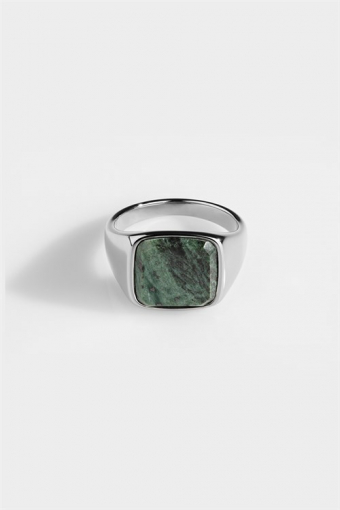 Ringa Verde Signature Green Marble Silver